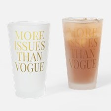 More Issues Than Vogue - Faux Gold Foil Drinking G