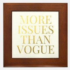More Issues Than Vogue - Faux Gold Framed Tile
