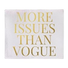 More Issues Than Vogue - Faux Gold Throw Blanket