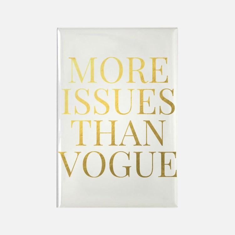More Issues Than Vogue - Faux Gold Foil Magnets