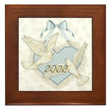Wedding Doves - 2008 Framed Tile
