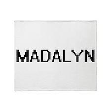 Madalyn Digital Name Throw Blanket