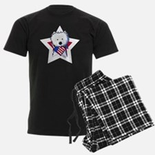 KiniArt Westie Patriotic Star Pajamas