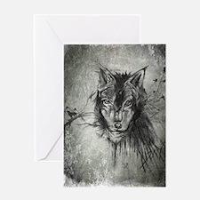 wolf Alpha Omega Greeting Card