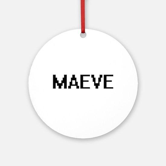 Maeve Digital Name Ornament (Round)