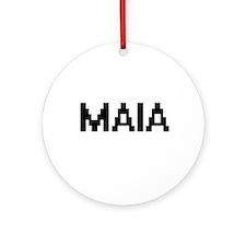Maia Digital Name Ornament (Round)