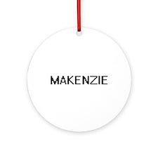 Makenzie Digital Name Ornament (Round)