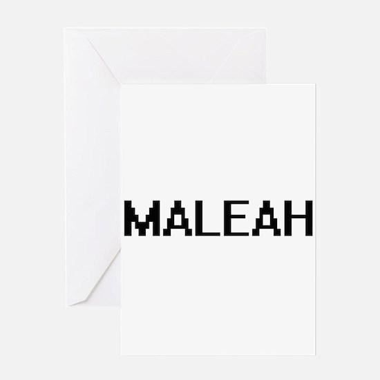Maleah Digital Name Greeting Cards