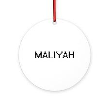 Maliyah Digital Name Ornament (Round)