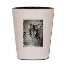 wolf Alpha Omega Shot Glass