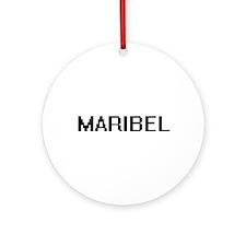 Maribel Digital Name Ornament (Round)
