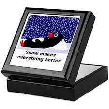 Snow Makes Everything Better Keepsake Box