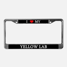 Love Yellow Lab License Plate Frame