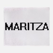 Maritza Digital Name Throw Blanket