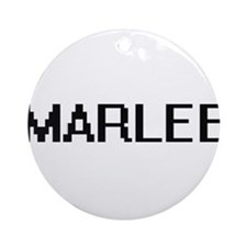 Marlee Digital Name Ornament (Round)