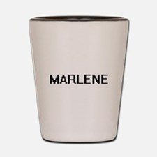 Marlene Digital Name Shot Glass
