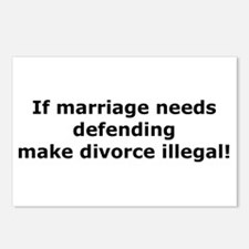 If marriage needs defending Postcards (Package of