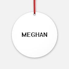 Meghan Digital Name Ornament (Round)
