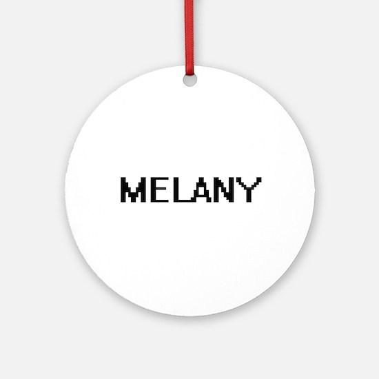 Melany Digital Name Ornament (Round)