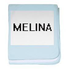 Melina Digital Name baby blanket