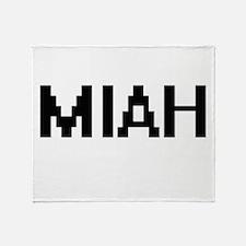 Miah Digital Name Throw Blanket