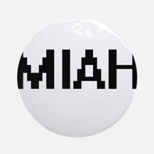 Miah Digital Name Ornament (Round)