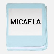 Micaela Digital Name baby blanket
