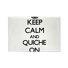 Keep Calm and Quiche ON Magnets