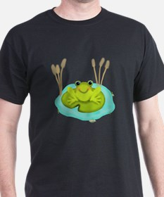 Happy Frog in Pond T-Shirt