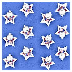 KiniArt US Westie Stars 2 Poster