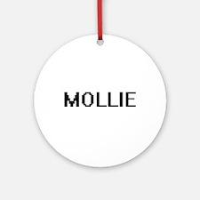 Mollie Digital Name Ornament (Round)