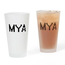 Mya Digital Name Drinking Glass