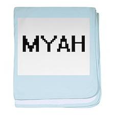 Myah Digital Name baby blanket