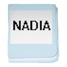 Nadia Digital Name baby blanket