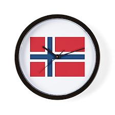 Norway Norwegian Flag Wall Clock
