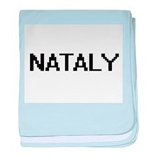 Nataly Digital Name baby blanket