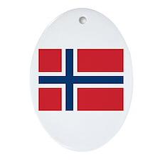 Norway Norwegian Flag Oval Ornament