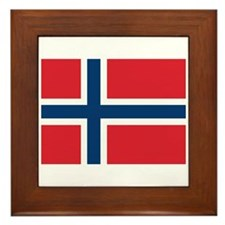 Norway Norwegian Flag Framed Tile