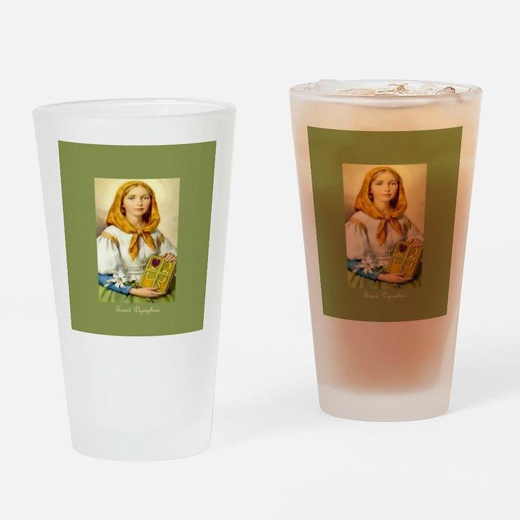Saint Dymphna Clover Drinking Glass