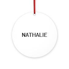 Nathalie Digital Name Ornament (Round)