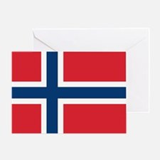 Norway Norwegian Flag Greeting Card