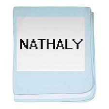 Nathaly Digital Name baby blanket