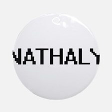 Nathaly Digital Name Ornament (Round)