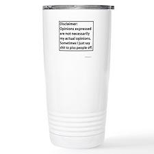 Opinions Disclaimer Travel Mug
