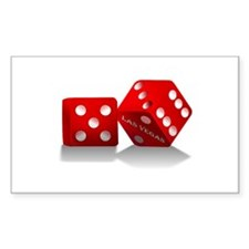 Las Vegas Red Dice Decal