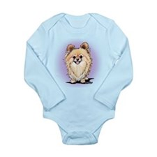 KiniArt Bella Pom Long Sleeve Infant Bodysuit