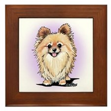 KiniArt Bella Pom Framed Tile