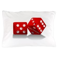 Las Vegas Red Dice Pillow Case