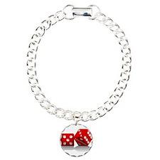 Las Vegas Red Dice Bracelet