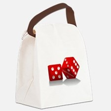 Las Vegas Red Dice Canvas Lunch Bag